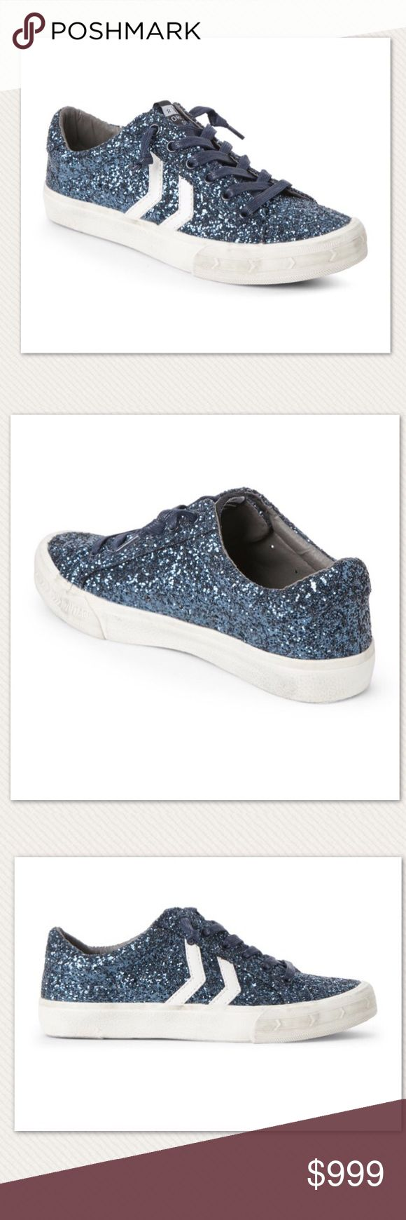 Vintage Havana Sparkle Sneakers Authentic new with box Vintage Havana Future Sparkle Navy Low Top Sneakers. Glitter upper, round toe, faux leather overlays, lace up closure Interior lining, lightly cushioned insole, padded collar, vintage style sole Accompanied by dust bag Man made upper/lining/sole Imported. Women's Size 9. ❗️No Trade❗️ Vintage Havana Shoes Sneakers