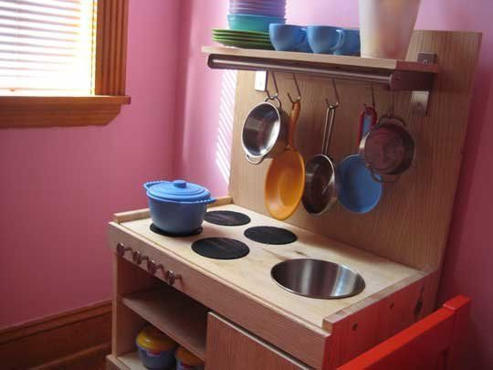 A Play Kitchen Built from IKEA Parts