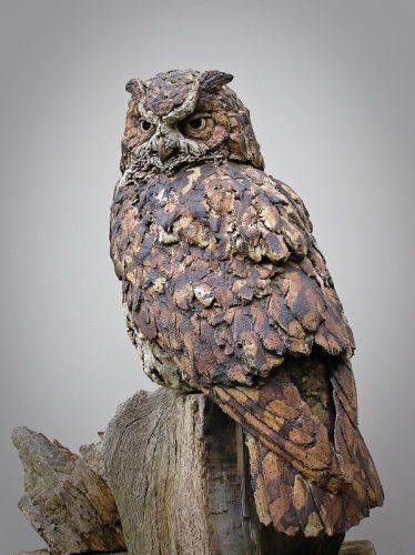 Eagle Owl Sculpture Pinned by www.myowlbarn.com