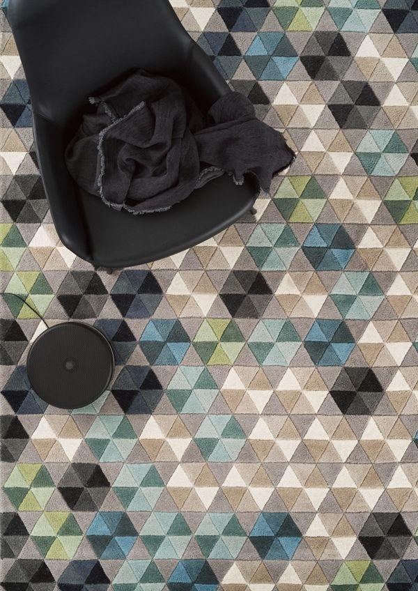 Alfombra de lana COLMENA, de la colección Essentials de Linie Design, elaborada a mano. Distintos colores y medidas.