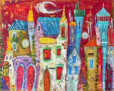 """Saatchi Art Artist Tatyana Murova; Painting, """",,Old Magic Town''"""" #art"""