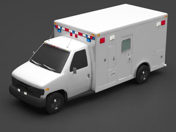 Ambulance Ambulance Car 3d Model Police Cars