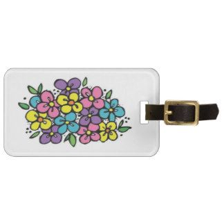 Flower Bunch Luggage Tags
