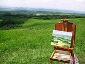 Paint Out of Foothills at Leighton Centre, Alberta