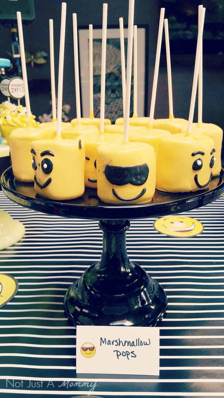 Emoji Graduation Party marshmallow pops