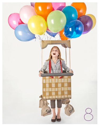 Colorful helium balloons help this cheery kids' costume hit new heights. Hot