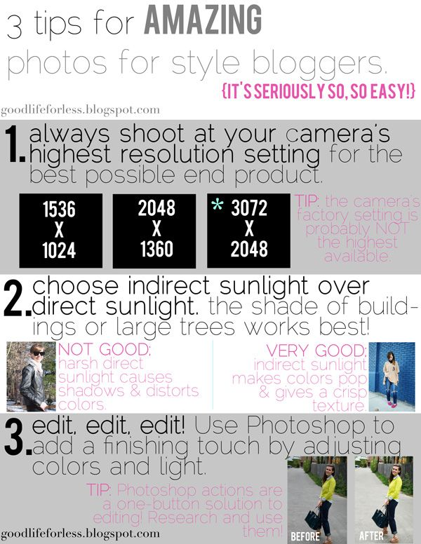 3 tips for amazing photos for style bloggers!