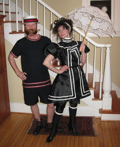 викторианский купальные костюмы Хэллоуин костюмы