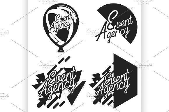 Vintage event agency emblems by Netkoff on @creativemarket