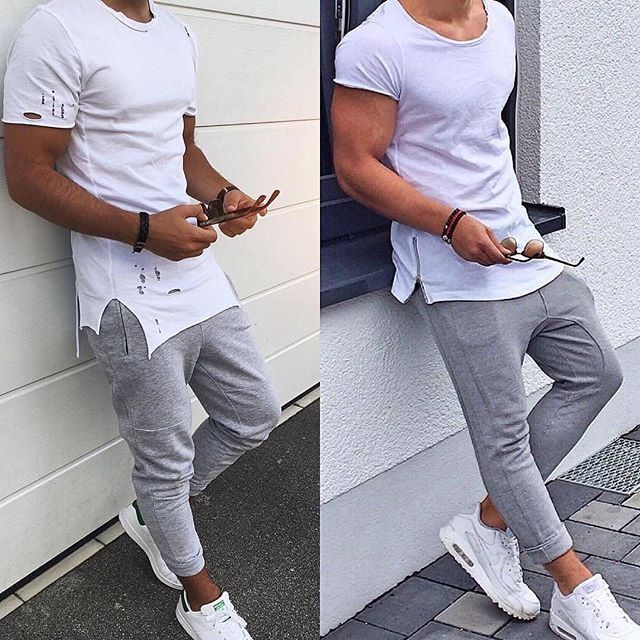 2 men's street style fashion looks with