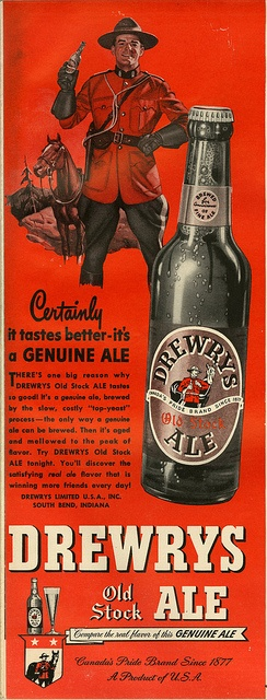 Canadian Beer, Made In The USA    1948.