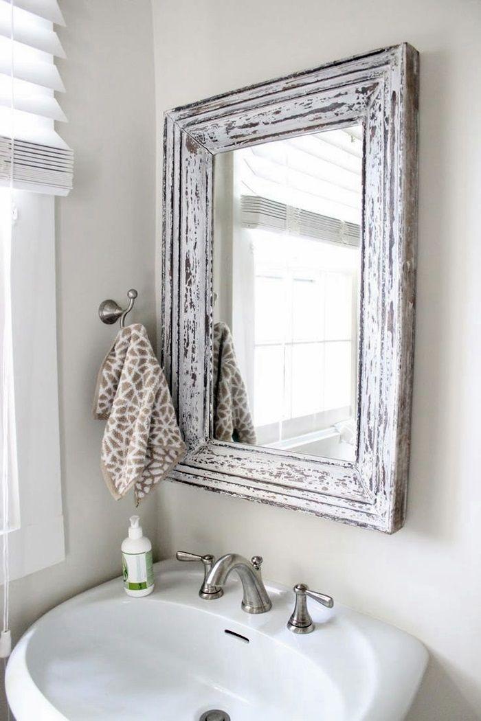 Specchio Con Cornice Per Bagno.Specchio Per Bagno Con Cornice Decorare Bagno Piccolo Bagno