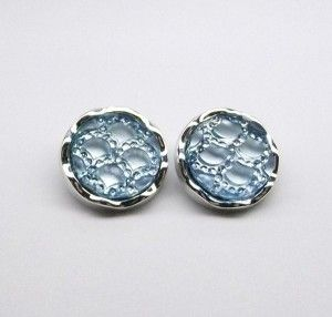 Turqouise Blue Acrylic Clip On Earrings
