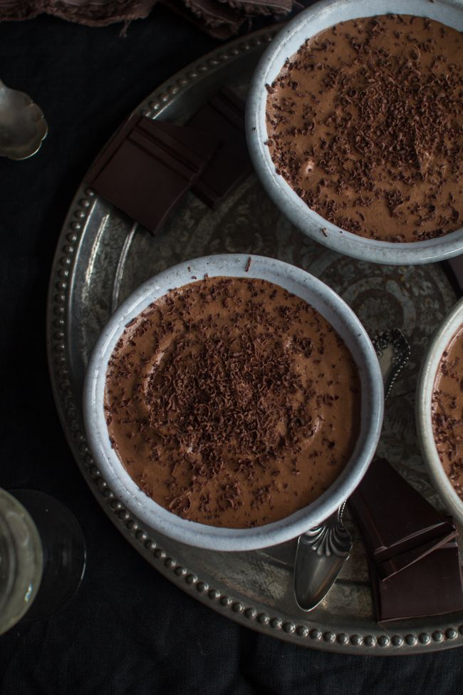 Dark Chocolate Espresso Mousse by The Flourishing Foodie.  http://www.annabelchaffer.com/categories/Dining-Accessories/