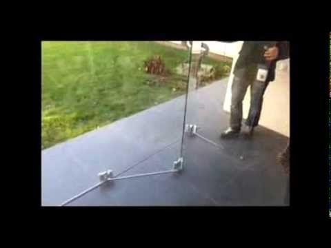 Безрамное остекление от компании Stekloff - YouTube
