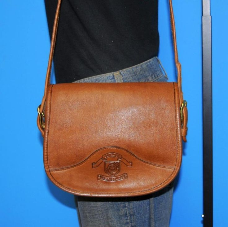 Vtg BRIGADE LEATHERWARE Brown Leather Small Saddle Satchel Purse Shoulder Bag #BrigadeLeatherware #Satchel