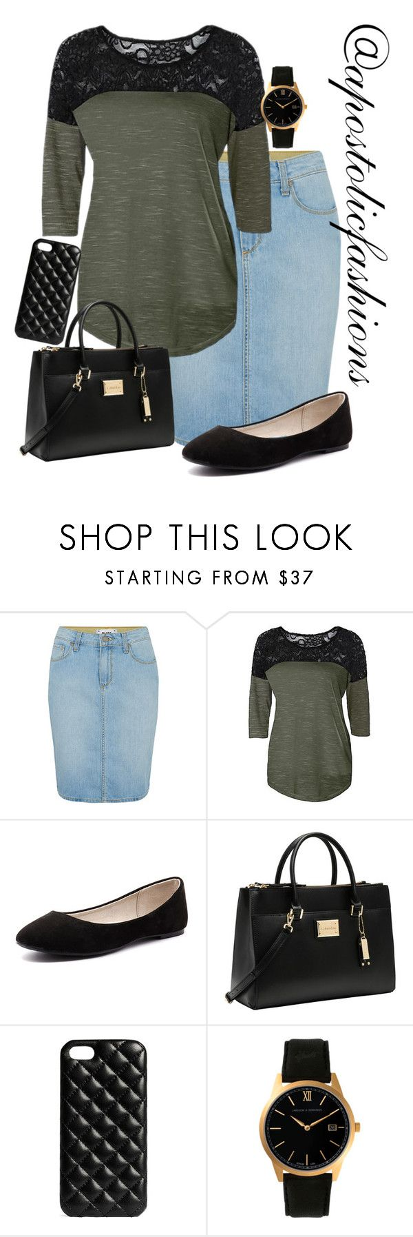 """""""Apostolic Fashions #1466"""" by apostolicfashions ❤ liked on Polyvore featuring Paige Denim, Verali, Calvin Klein, The Case Factory, Larsson & Jennings, modestlykay and modestlywhit"""