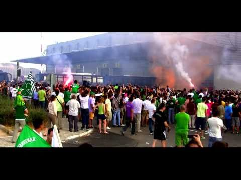 Panathinaikos Fans 25/06/09 - Djibril Cisse Reception at 720p