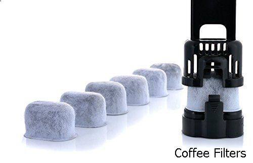 Coffee Filters - 12-Pack KEURIG Compatible Water Filters by K&J - Universal Fit (NOT CUISINART) Keurig Compatible Filters - Replacement Charcoal Water Filters for Keurig 2.0 (and older) Coffee Machines
