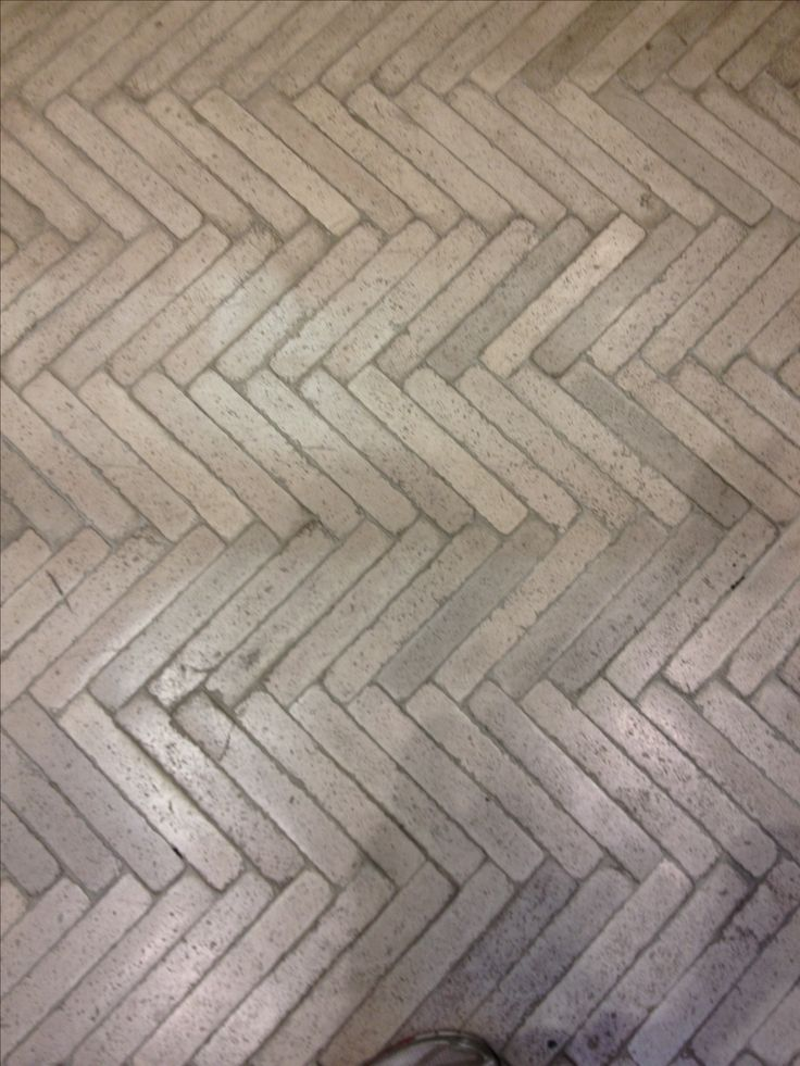 Concrete in Herringbone Pattern
