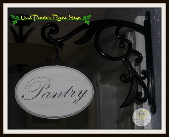 Made to Order Powder Room Sign/Oval/Black by OwlAlwaysBeCrafting