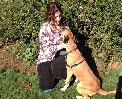 Dog trainer Sue Walsh says, 'Well done to all our students and dogs who did a fantastic job at Graduation today. We are SOOO proud!!! Here is a photo of Sara with her dog Rex having a moment after the graduation ceremony.'