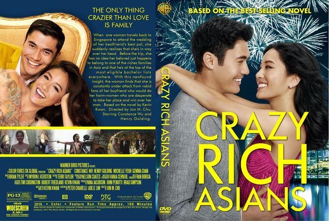 Crazy Rich Asians 2018 Dvd Custom Cover Dvd Cover Design Custom Dvd Crazy Rich Asians