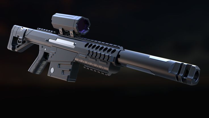 SYNTax P40 Assault Rifle, Laurentiu Nedelca on ArtStation at https://www.artstation.com/artwork/GlYd1