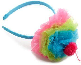 Amazon.com: Mud Pie Baby-girls Infant Puff Headband, Hot Pink/Blue/Green, 0-12 Months: Clothing