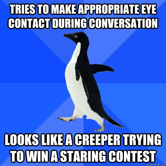 how to make eye contact less awkward