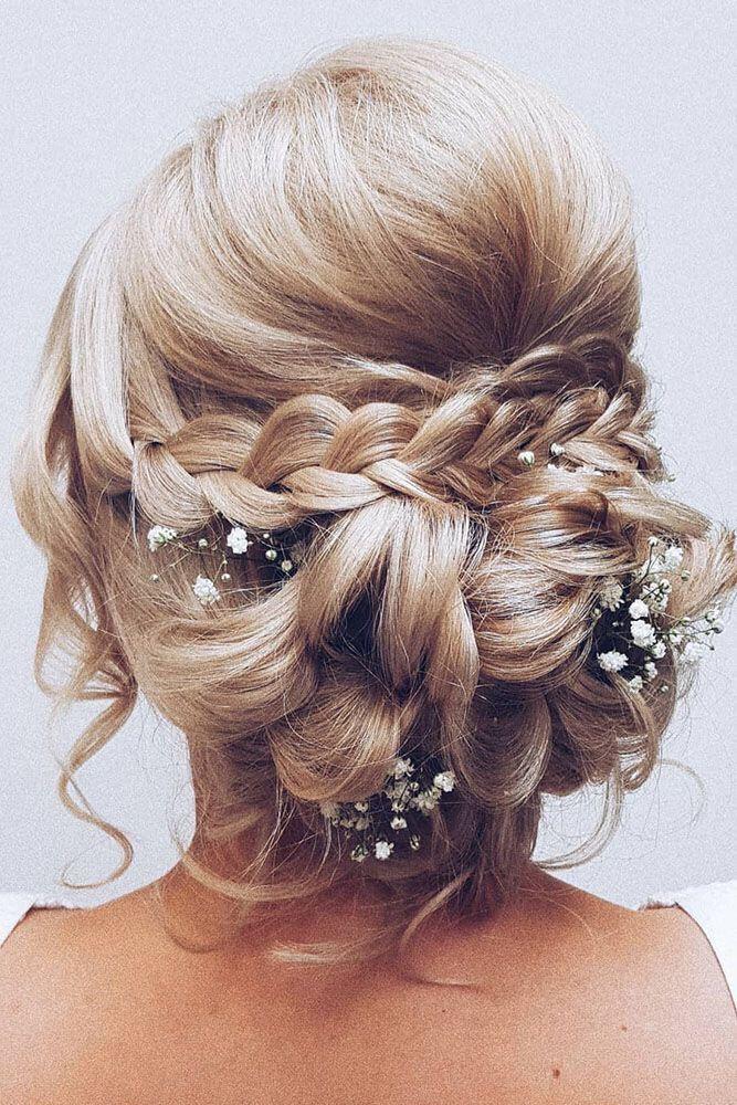 Hochzeitfrisuren mittellang halboffen oder mit schleier #weddinghairstyles