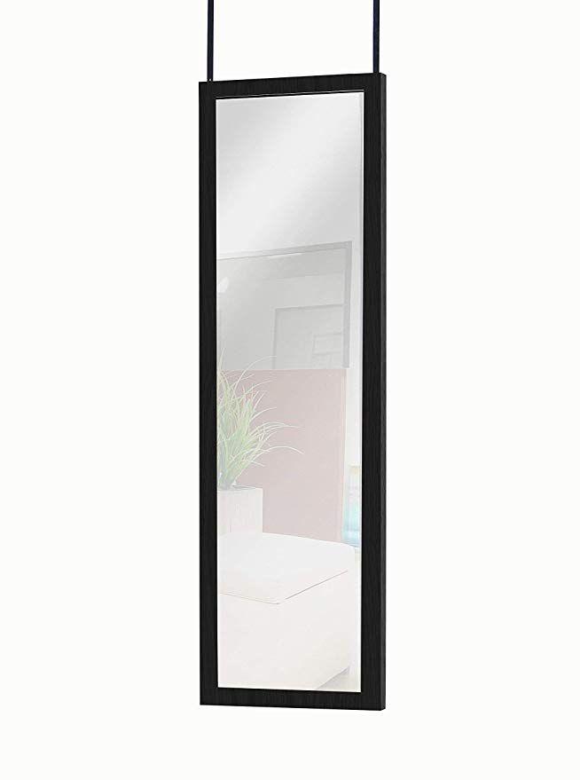 Mirrotek Door Hanging Mirror 14 X 42 Black