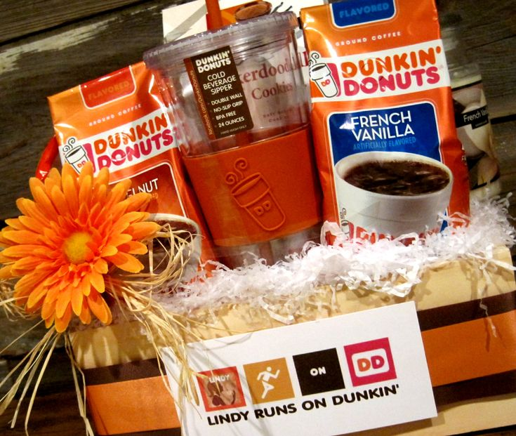 Best 25 raffle baskets ideas on pinterest basket ideas raffle heres a gift basket for the die hard dunkin donuts fan prize ideasraffle negle Images