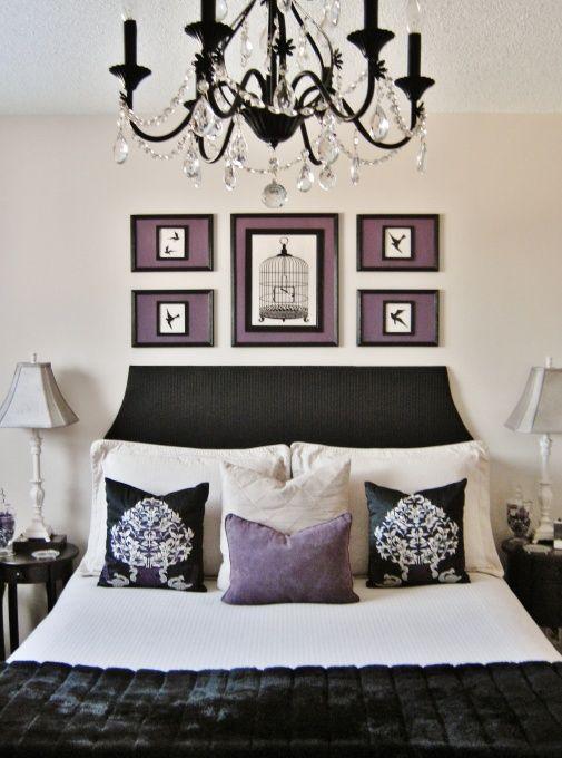 Black, white and lavender.