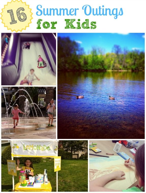 16 Summer Outings for Kids -- mostly free or very low cost ways to beat the heat!