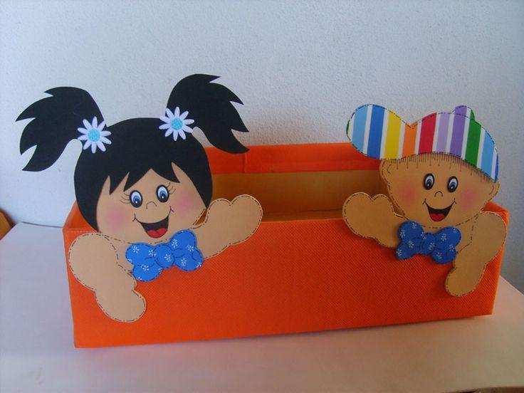 Caixas Decoradas para Sala de Aula   Painel Criativo