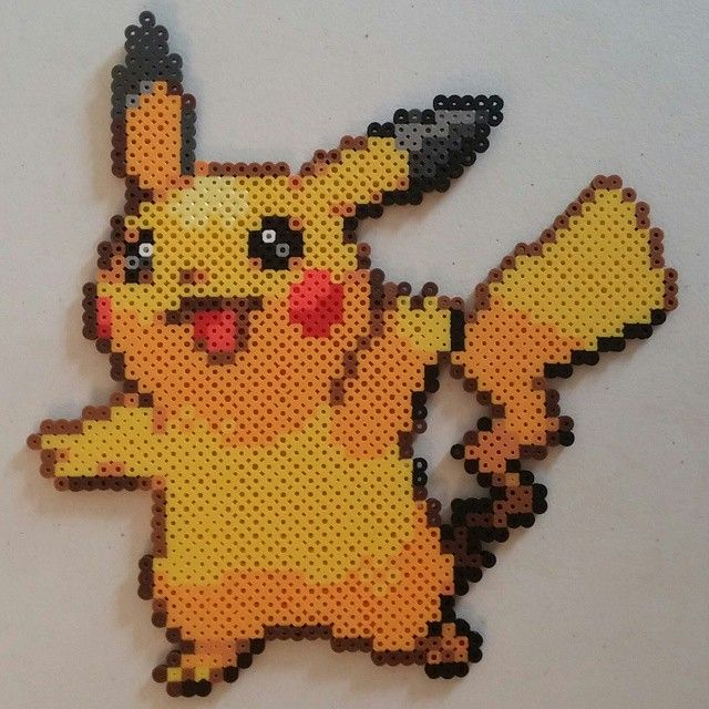 Pikachu Pokemon perler beads by mr_jollys_8_bit_kingdom