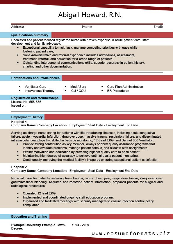 Information About Resume Format 2015