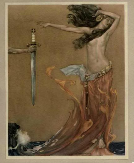 Le Morte D'Arthur. William Russell Flint.
