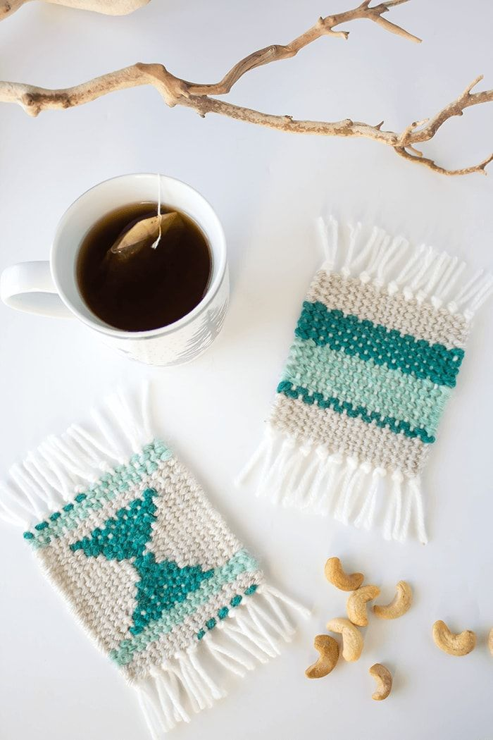 Coaster project - This beginners weaving project takes you step-by-step through the process, without having to purchase a loom.