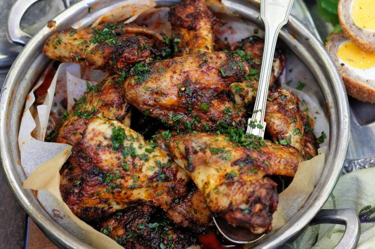 Spicy chicken wings are the perfect finger food for an autumn picnic.