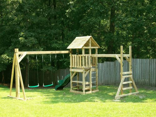 Cheap Backyard Playground Ideas find this pin and more on diy playground ideas Backyard Playground Hand Crafted Wooden Playsets Swing Sets Gallery