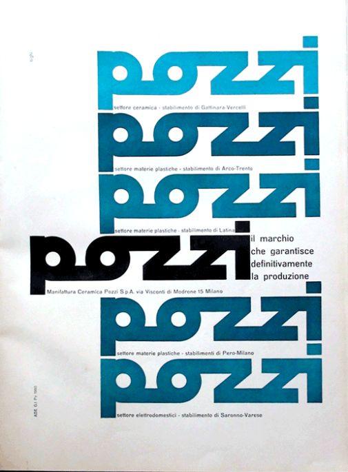 Ceramica Pozzi, 1960  Design: Dante Bighi