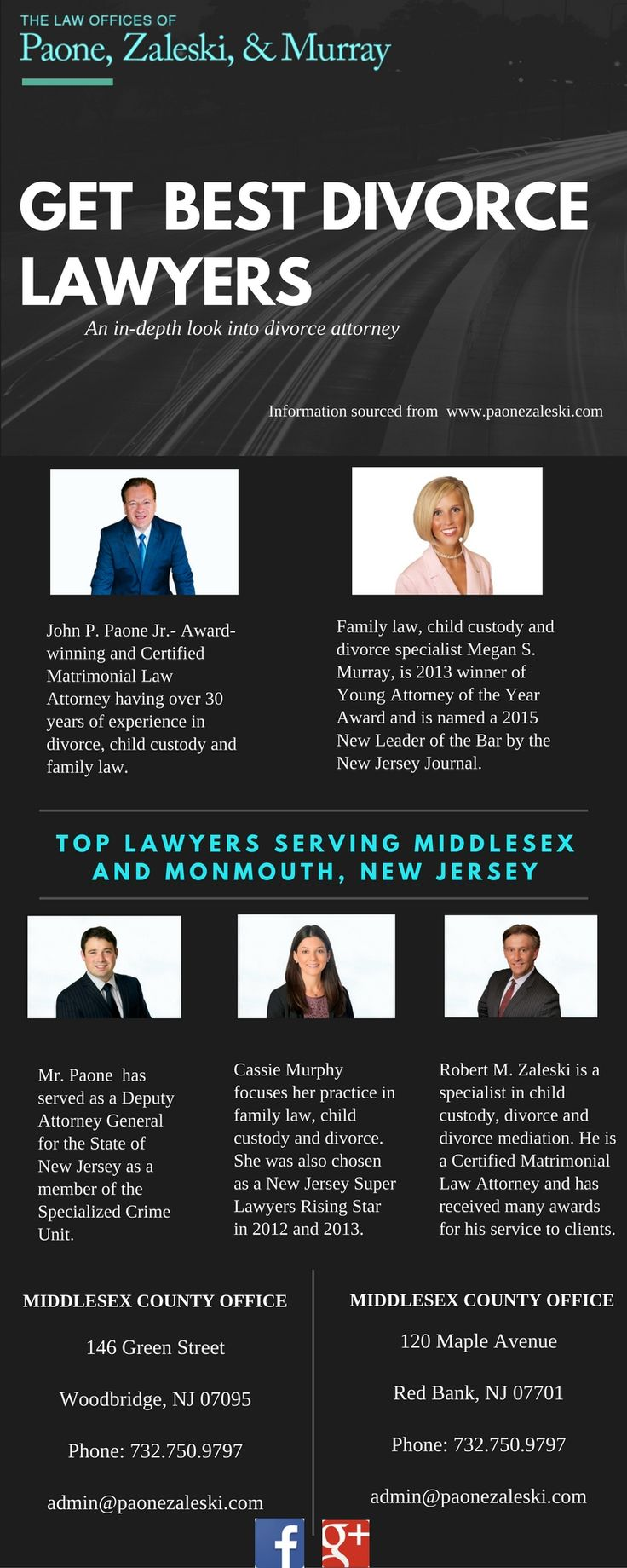 Paone, Zaleski & Murray has experienced and trusted Divorce Attorneys & family lawyers. We have offices in Middlesex and Monmouth Counties, New Jersey.
