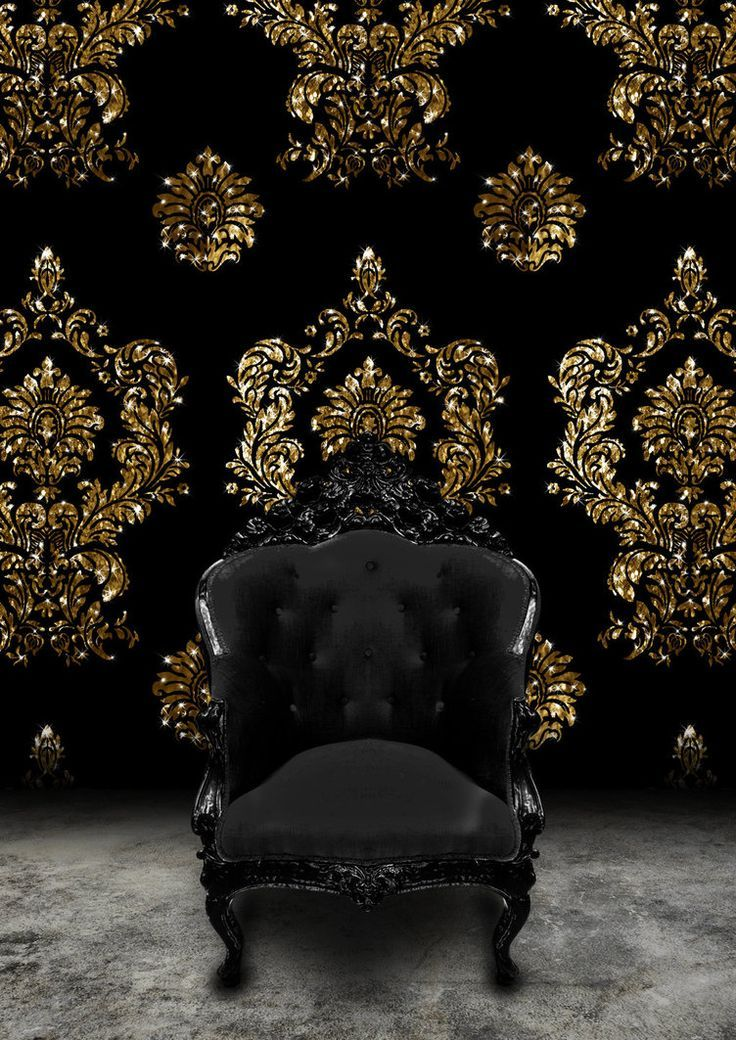 fancy wallpaper black and gold <3