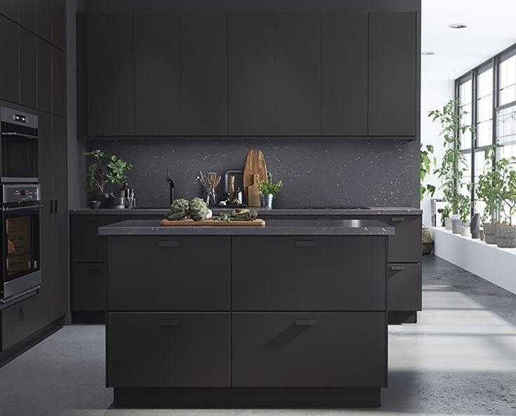 25 best ideas about black kitchens on pinterest modern kitchen design minimalist kitchen. Black Bedroom Furniture Sets. Home Design Ideas