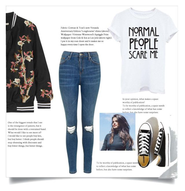 Untitled #126 by ioannagesouli on Polyvore featuring polyvore fashion style Alice + Olivia Topshop Converse clothing