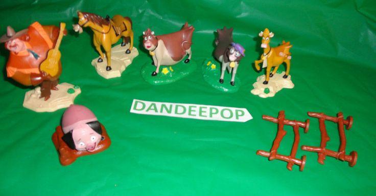 8 pc Walt Disney Home on The Range Toy Movie Figurines PVC