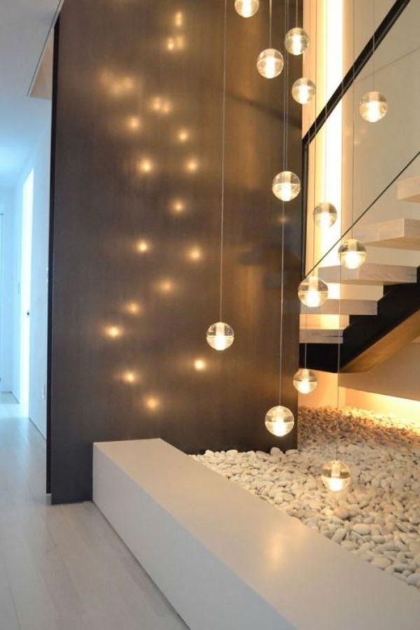 Moderne Schicke Treppen Beleuchtung Rustikale Wohndekoration Moderne Raumausstattung Treppenbeleuchtung