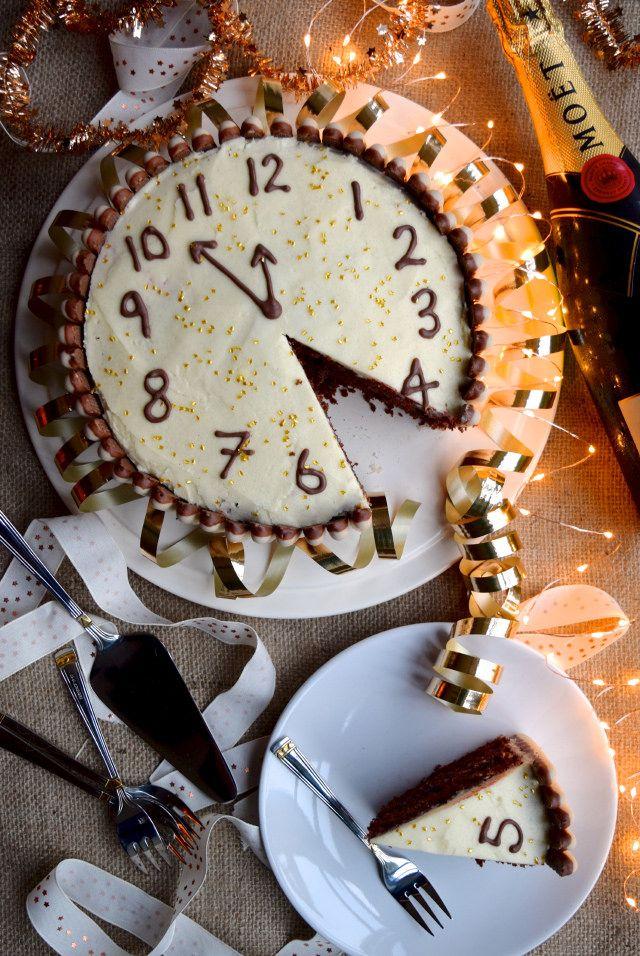 Chocolate, Cherry & Cognac New Years Eve Cake